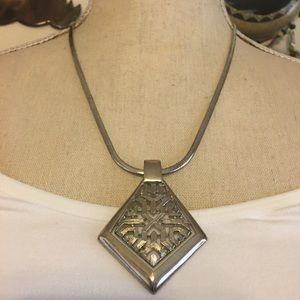 Vintage medieval style pendant on snake chain